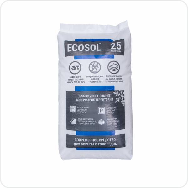 Противогололедный антигололедный реагент Экосол