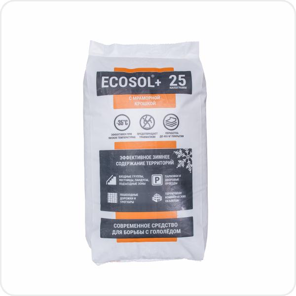 Противогололедный антигололедный реагент Экосол+